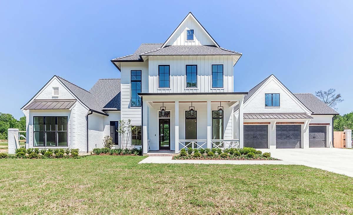 Country, Farmhouse House Plan 40347 with 4 Beds, 5 Baths, 3 Car Garage Elevation
