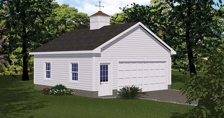 1 Car Garage Plan 40657 Elevation