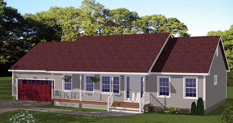 Country, Ranch, Traditional House Plan 40684 with 3 Beds, 2 Baths, 2 Car Garage Elevation