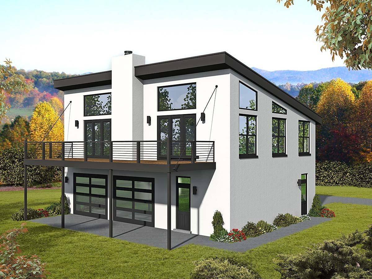 Coastal, Contemporary, Modern, Traditional House Plan 40835 with 1 Beds, 2 Baths, 3 Car Garage Elevation