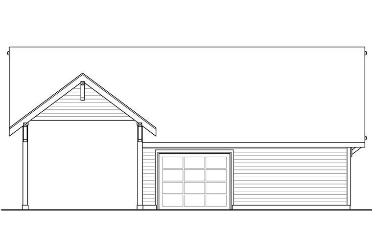 Craftsman, Ranch, Traditional 3 Car Garage Plan 41273 Rear Elevation