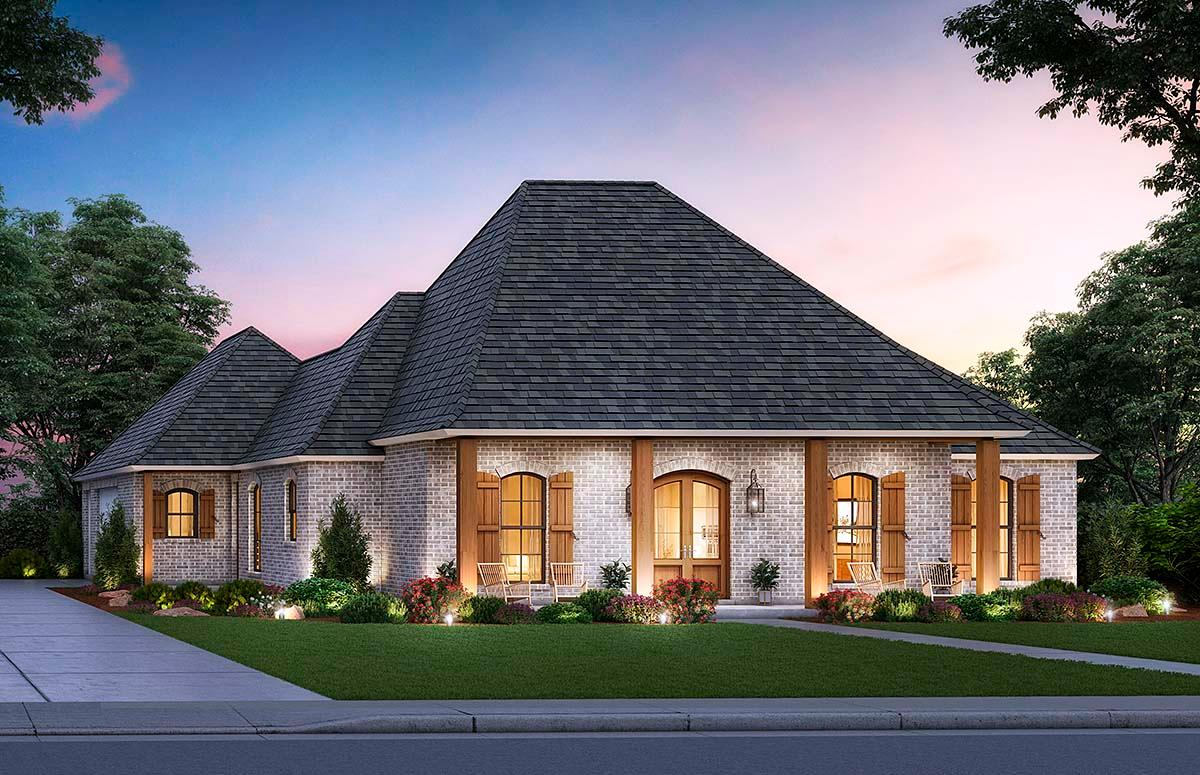 Acadian, Colonial, French Country House Plan 41430 with 4 Beds, 3 Baths, 2 Car Garage Elevation