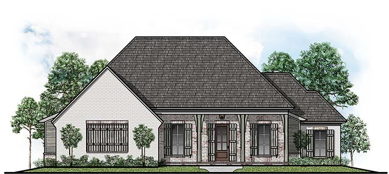 Country, European House Plan 41500 with 4 Beds, 3 Baths, 2 Car Garage Elevation