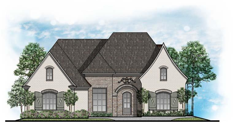 European, Southern, Traditional House Plan 41652 with 4 Beds, 4 Baths, 3 Car Garage Elevation