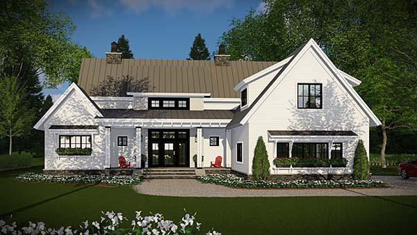 Country, Farmhouse, Traditional House Plan 42683 with 4 Beds, 3 Baths, 3 Car Garage Elevation