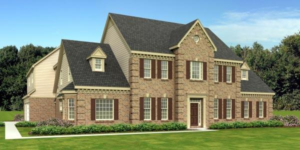 Traditional House Plan 48755 with 5 Beds, 4 Baths, 3 Car Garage Elevation