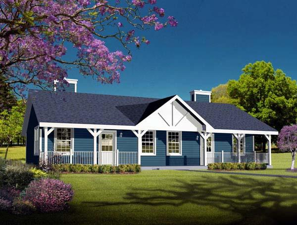 One-Story, Ranch Multi-Family Plan 49126 with 2 Beds, 2 Baths Elevation