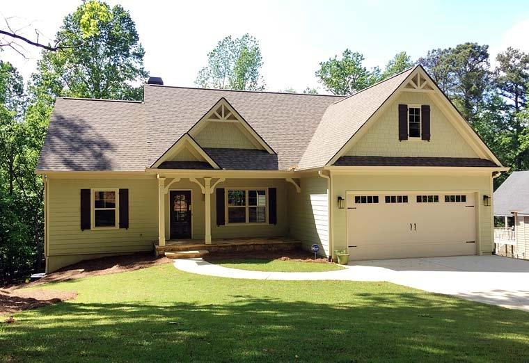 Cottage, Country, Craftsman, Ranch, Southern, Traditional House Plan 50267 with 3 Beds, 2 Baths, 2 Car Garage Elevation