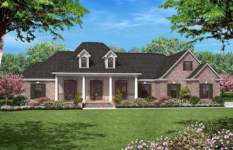 European, French Country House Plan 51952 with 4 Beds, 4 Baths, 2 Car Garage Elevation