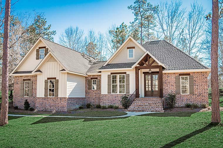 Country, French Country, Traditional House Plan 51966 with 3 Beds, 3 Baths, 2 Car Garage Elevation