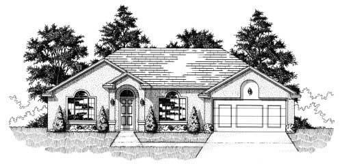 House Plan 53249 with 3 Beds, 2 Baths, 2 Car Garage Elevation