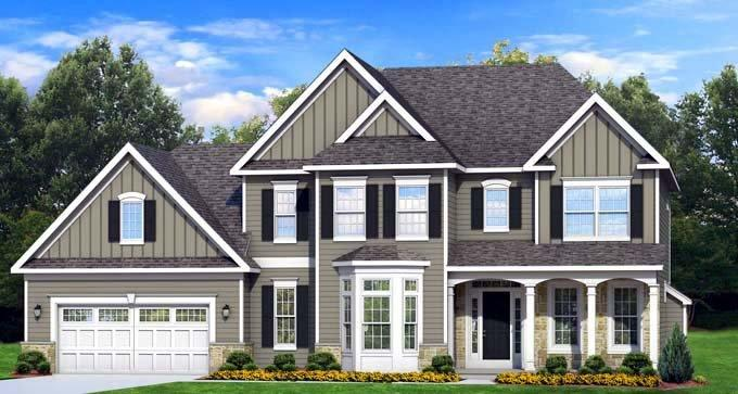 Traditional House Plan 54138 with 4 Beds, 3 Baths, 2 Car Garage Elevation