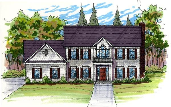 Colonial, Country, Southern, Traditional House Plan 56421 with 3 Beds, 3 Baths, 3 Car Garage Elevation