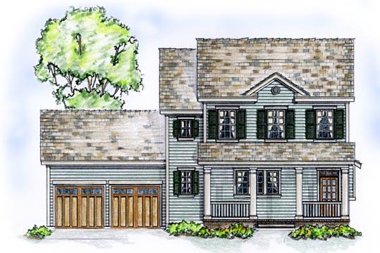 Country, Farmhouse, Traditional House Plan 56531 with 3 Beds, 3 Baths, 2 Car Garage Elevation