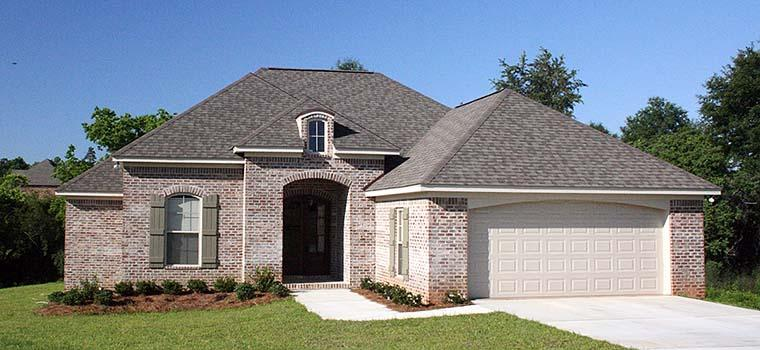 European, French Country House Plan 56962 with 3 Beds, 2 Baths, 2 Car Garage Elevation