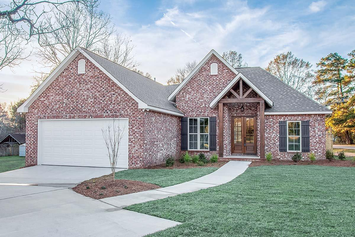 Country, French Country, Traditional House Plan 56991 with 3 Beds, 2 Baths, 2 Car Garage Elevation