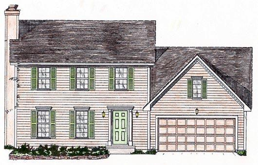 House Plan 58446 with 4 Beds, 3 Baths, 2 Car Garage Elevation