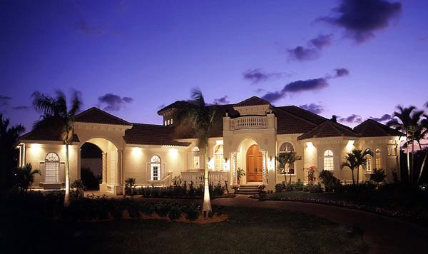 Florida House Plan 58907 with 3 Beds, 4 Baths, 3 Car Garage Elevation