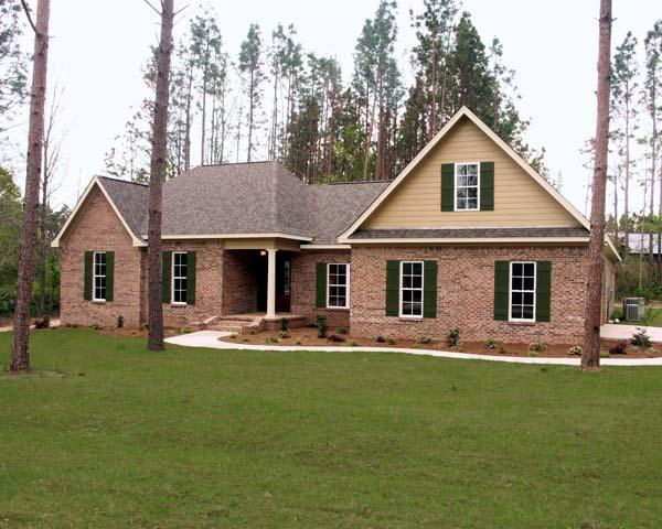 European, Ranch, Traditional House Plan 59112 with 4 Beds, 3 Baths, 2 Car Garage Elevation
