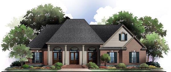 Country, European, Traditional House Plan 59174 with 3 Beds, 3 Baths, 2 Car Garage Elevation