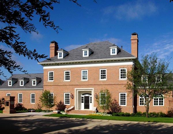 Colonial, Traditional House Plan 59508 with 5 Beds, 4 Baths, 3 Car Garage Elevation
