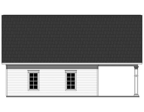 Country, Traditional 3 Car Garage Plan 59931 Rear Elevation