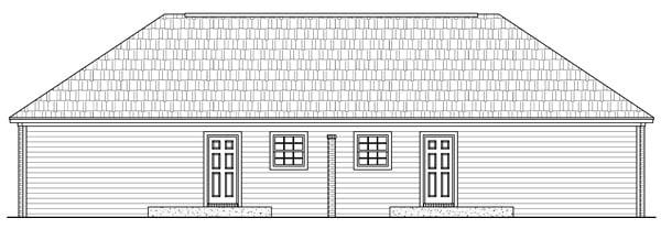 European, Traditional Multi-Family Plan 59986 with 4 Beds, 2 Baths Rear Elevation