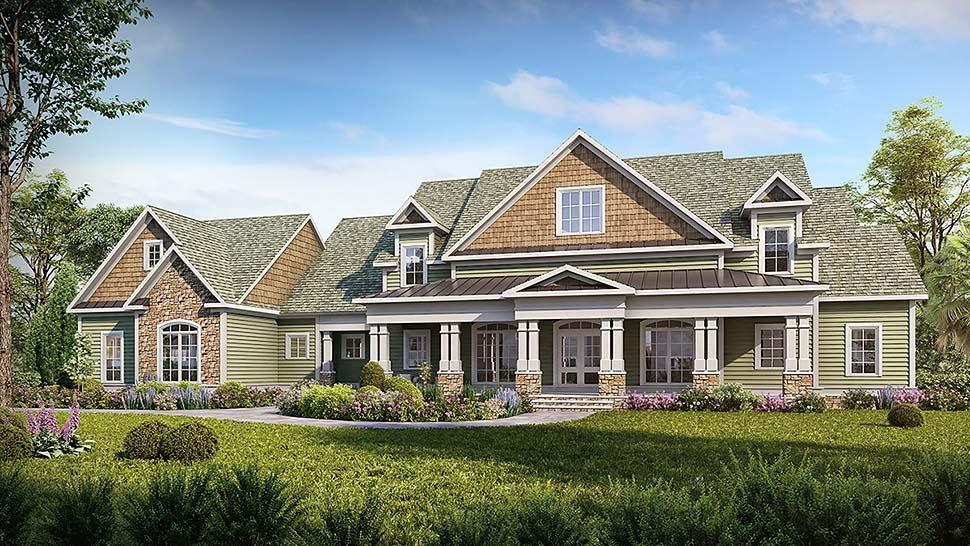 Craftsman, Traditional House Plan 60065 with 4 Beds, 5 Baths, 3 Car Garage Elevation