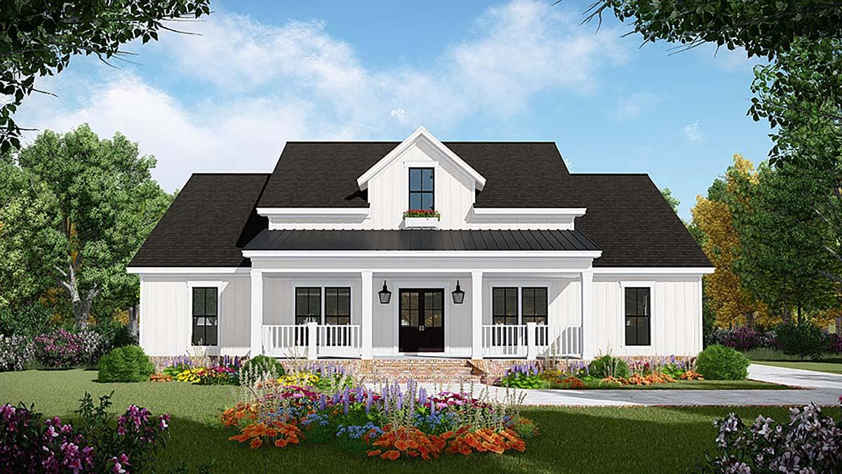 Country, Farmhouse, Ranch House Plan 60108 with 3 Beds, 2 Baths, 2 Car Garage Elevation