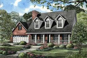 Cape Cod House Plan 62134 with 3 Beds, 3 Baths, 2 Car Garage Elevation