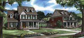 Colonial, Southern Multi-Family Plan 62140 with 4 Beds, 3 Baths, 2 Car Garage Elevation