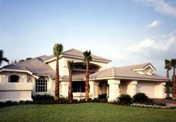 Contemporary, Florida, Mediterranean, One-Story House Plan 63284 with 3 Beds, 3 Baths, 2 Car Garage Elevation