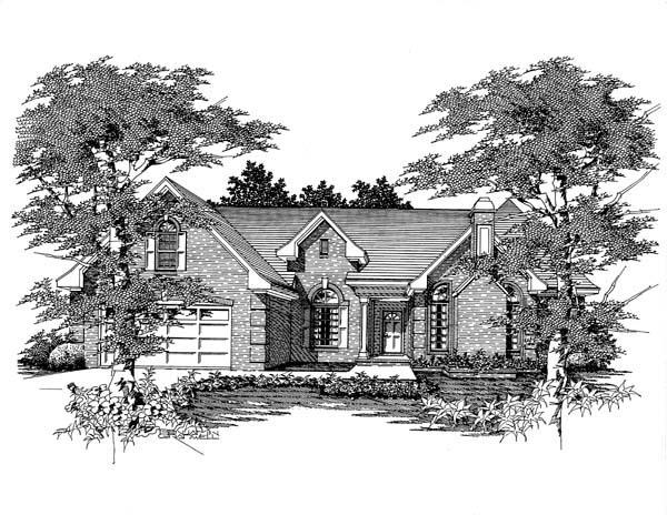 House Plan 63701 with 3 Beds, 2 Baths, 2 Car Garage Elevation