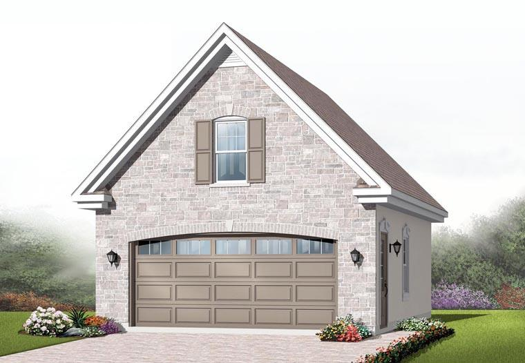 Craftsman 2 Car Garage Plan 64837 Elevation