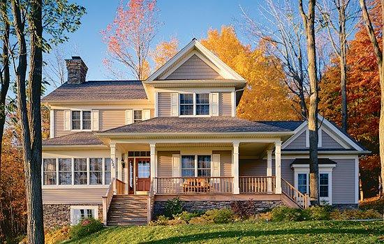 Country, Farmhouse House Plan 65135 with 3 Beds, 3 Baths, 2 Car Garage Elevation