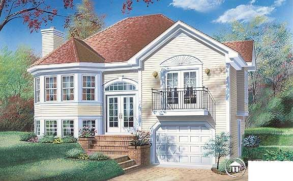 Victorian House Plan 65169 with 3 Beds, 1 Baths, 1 Car Garage Elevation
