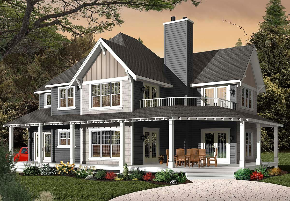 Country, Craftsman, Farmhouse House Plan 65231 with 3 Beds, 3 Baths, 2 Car Garage Elevation