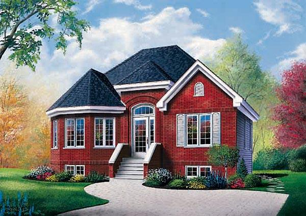 European, Victorian House Plan 65262 with 2 Beds, 1 Baths Elevation