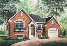 European, Traditional House Plan 65376 with 2 Beds, 1 Baths, 1 Car Garage Elevation
