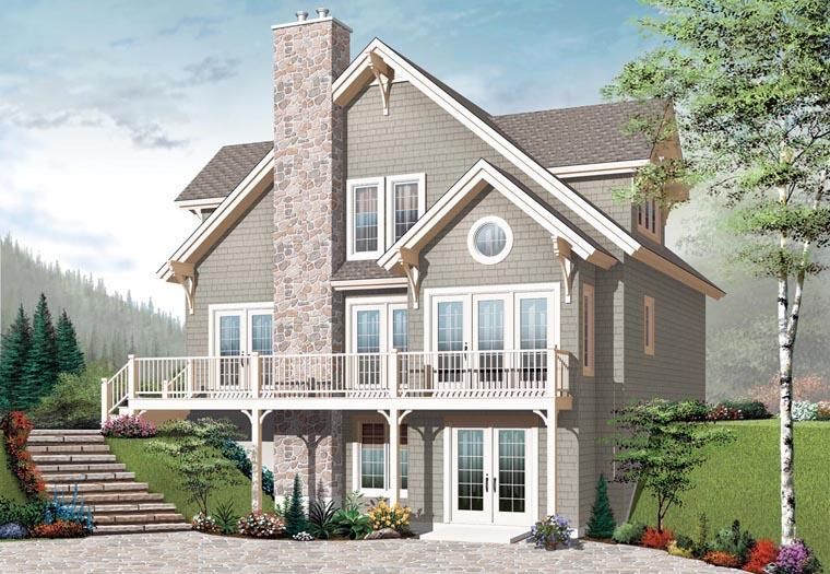 Cottage, Craftsman House Plan 65389 with 3 Beds, 2 Baths Elevation