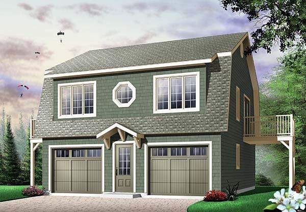 Country, Farmhouse, Ranch 2 Car Garage Apartment Plan 65516 with 2 Beds, 1 Baths Elevation