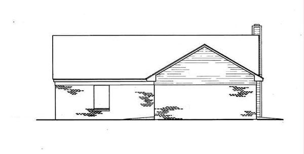 Cabin, Ranch House Plan 65638 with 3 Beds, 2 Baths, 2 Car Garage Rear Elevation