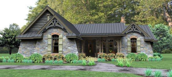 Cottage, Country, Tuscan House Plan 65874 with 3 Beds, 3 Baths, 2 Car Garage Elevation