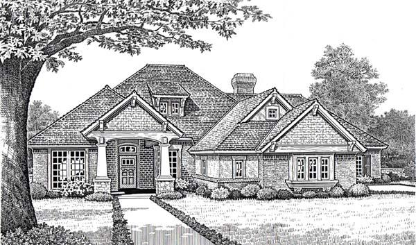 Traditional House Plan 66112 with 4 Beds, 3 Baths, 3 Car Garage Elevation