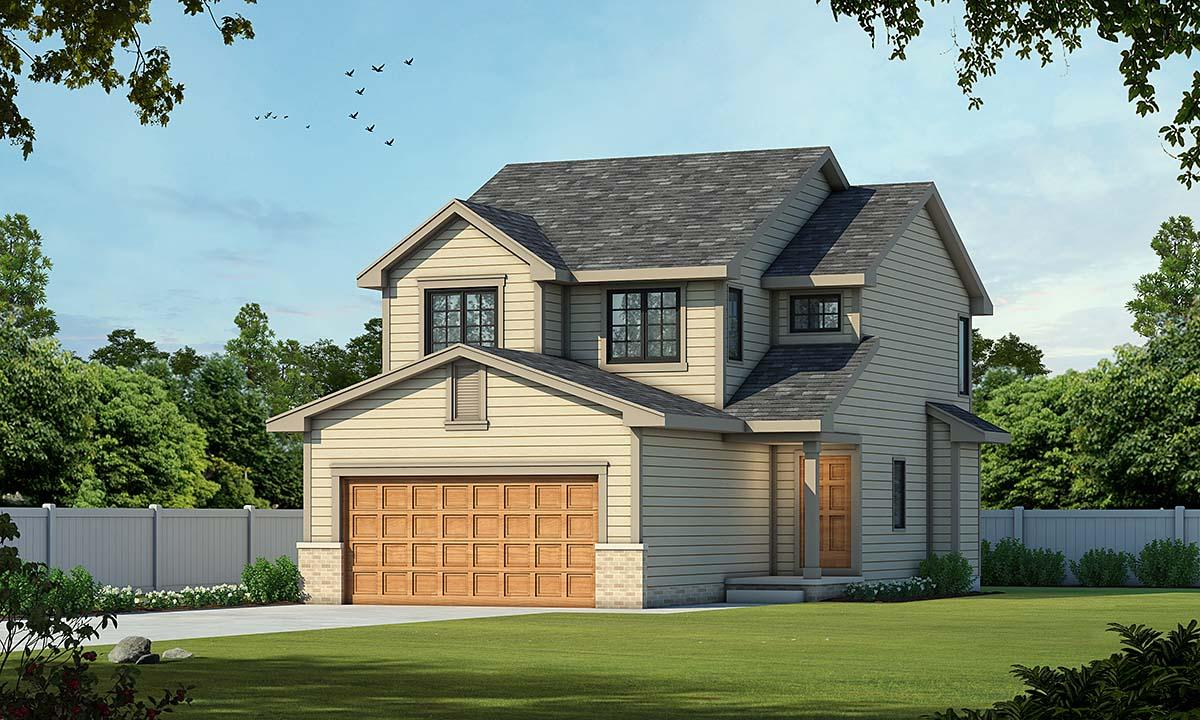 Country House Plan 66553 with 3 Beds, 3 Baths, 2 Car Garage Elevation