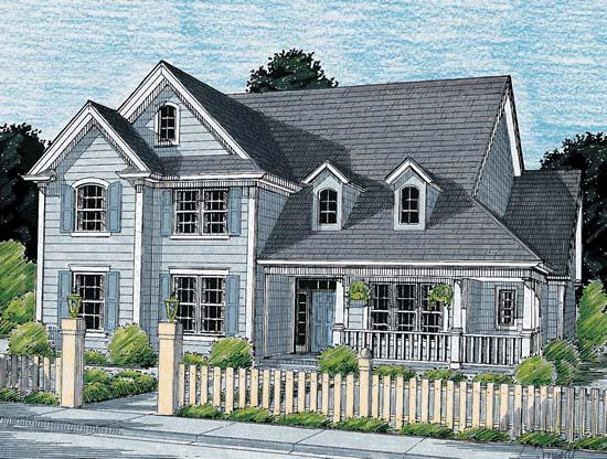 Country House Plan 68151 with 4 Beds, 4 Baths, 2 Car Garage Elevation