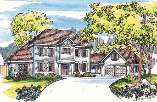 Colonial, Southern House Plan 69136 with 6 Beds, 5 Baths Elevation