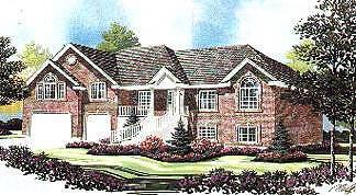 Traditional House Plan 70520 with 5 Beds, 4 Baths, 3 Car Garage Elevation