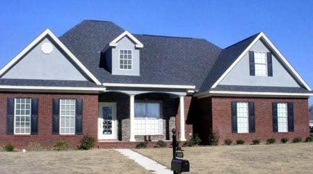 Traditional House Plan 71449 with 3 Beds, 2 Baths, 2 Car Garage Elevation