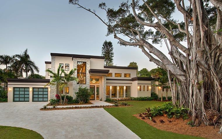 Contemporary, Modern House Plan 71554 with 6 Beds, 7 Baths, 3 Car Garage Elevation